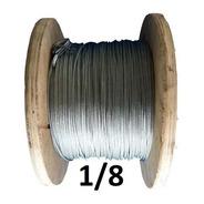Cable De Acero Galvanizado 7x7 1/8  Con 150 Mts Obi
