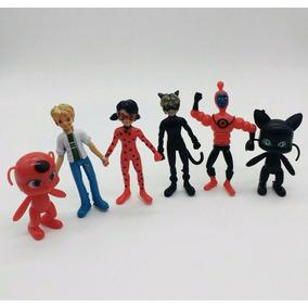 Miraculous Tales Of Ladybug E Cat Noir 6 Bonecos Liquidação