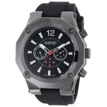 August Steiner Hombre As8080bk Suizo Multi-function Negro Si