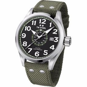 Tw Steel Volante Cuarz 48mm Verd Milita Vs22 Reloj Diego Vez