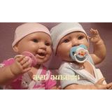 Bebes Reales Mellizos Nena Y Varon 40 Cm (2 Bebes) !!