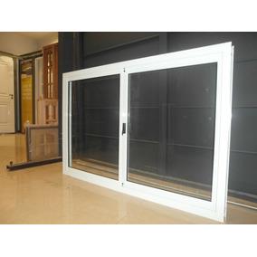 ventana aluminio blanco herrero x con vidrio torri