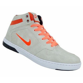 Tênis Nike Force Sky Bege E Laranja
