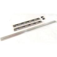 Suporte Em Inox Para Churrasqueira E 3 Barras De Aluminio 1m
