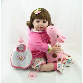 Boneca Bebê Reborn 52 Cm + Brindes Linda! Pronta Entrega!!!