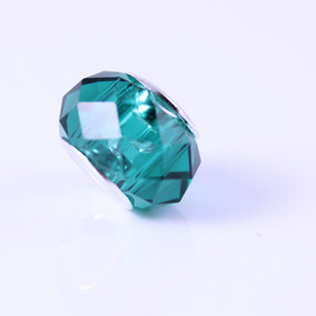 Dijes Pandora Cristal Murano Faceteado Verde + Regalo