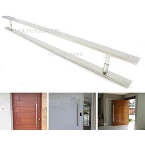 Puxador Inox Retangular 100cm Porta De Madeira E De Vidro