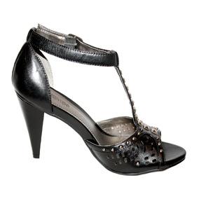 Zapatos Sandalias Tacon Kenneth Cole Negro 24 Estoperoles