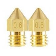 2 Bicos - Nozzle - 1.75mm - 0.6mm - Mk7 Mk8