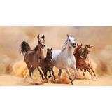 Painel De Festa Infantil 3,00x1,70 Cavalos No Deserto