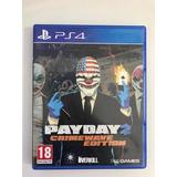 Juego Ps4 - Fisico - Payday 2