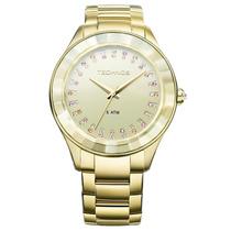 Relógio Technos 2035ltv/4x 2035ltv 4x Dourado Ouro Swarovski