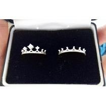 Par Anillos Corona Rey Y Reyna Plata Diamante .925 Pareja!!