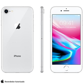 Iphone 8 Prata 4,7 , 4g, 64 Gb, 12 Mp - Mq6h2br/a