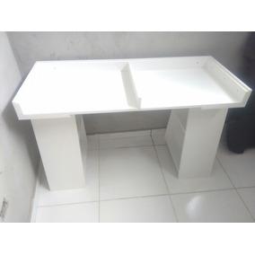 Mesa Escrivaninha Cavalete Com Tampo Vidro Lapidado De 6mm