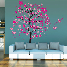 Decoracion Interiores Vinil Para Pared Arbol Corazones Pp