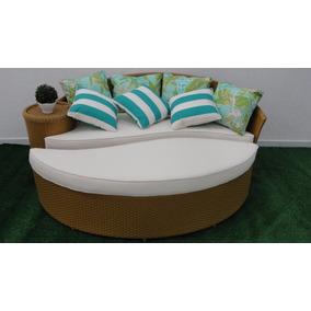 Sofa + Puff Dubai Para Area Externa Sala Jardim Piscina