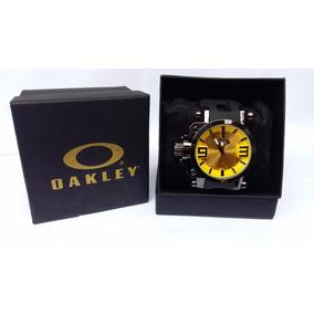 Relogio Masculino Oakley Gearbox Titanium Com Caixa, Barato