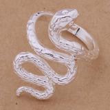 Anillo Modelo Serpiente En Plata 925 Rodinado