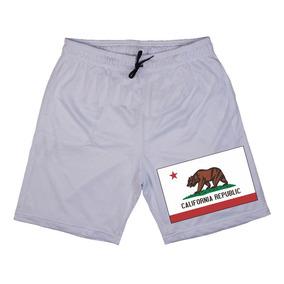 Short Masculino Estampado Bandeira California Republic U.s.a