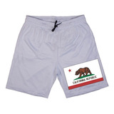Short Masculino Estampado Bandeira California Republic U.s.a