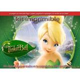 Kit Imprimible Tinker Bell Campanita Tarjetas Cotillón Cajas