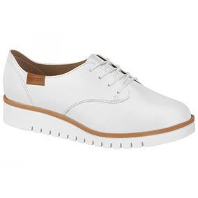 Sapato Oxford Beira Rio Para Enfermeira/médica Branco
