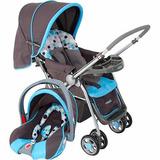 Carrinho Bebê Conforto Travel System Reverse Azul - Cosco