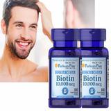 2x1 Biotina Americana Puritan´s 10000 Mcg Uñas Cabello Piel