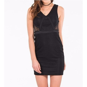 Vestido Negro Transparencias . Talla Juvenil M=30