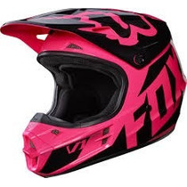 Casco Fox V1 Race Rosa Mujer 2017 Motocross Atv Moto Talla M