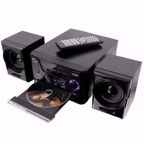 Mini System Com Dvd Multilaser Sp141 30w Rms Rádio Fm Usb