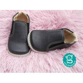 Zapatos Tipo Mocasín Para Niño Bebé No Tuerce - Negro