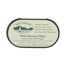 Bar Harbor Salvajes Arenque Filetes, Cracked Pepper, 6,7 Onz