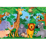 1 Painel Safari (02) + Painel Muro Ingles (mary) 2,40 X 1,30