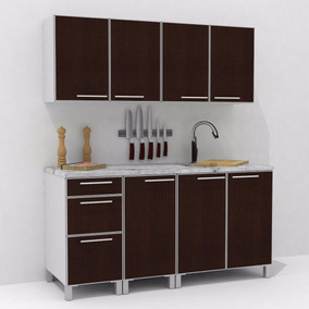 Mueble De Cocina Cantos De Aluminio 1,60 Mts Manijas