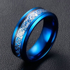 Azul Titanio Joyas Acero Compromiso Boda Banda De... (7)