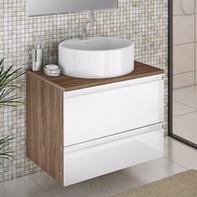 Gabinete Para Banheiro Com Cuba Redonda Brisa Itatiaia Wt