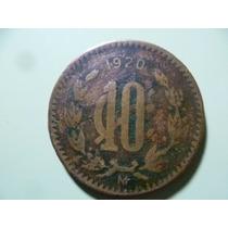 Moneda De 10 Centavos Año 1920 . Estados Unidos Mexicanos