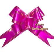 Kit 500 Lacinho Para Presente E Cestas Grande 32mm Pink Luxo
