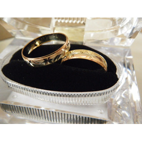 Argollas Para Boda Oro 10k Florentino Diamantadas