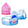 Túnel azul / carpa rosada