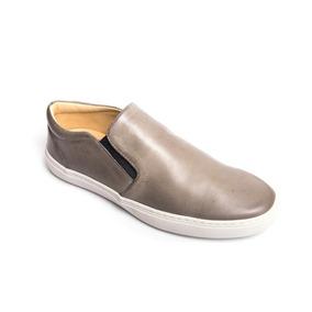 Sapatênis Iate Couro Liso De Calçar Nike adidas Puma Casual