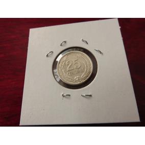 Moneda Del Mundo Plata El Salvador 25 Centavos 1953