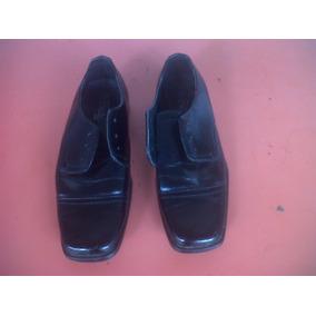 Zapatos Escolares Negros Casuales 35 Y 34 Cuero Sin Trensas