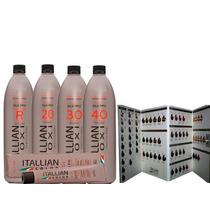 Kit Itallian 24 + Tintas 6 Oxidante + Tabela De Cores