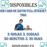 Sim Card Tigo 2 Gigas + 50 Minutos + What Y Faceb Ilimitado