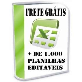 1000 Planilhas Excel - Editaveis - Via E-mail - Leilão