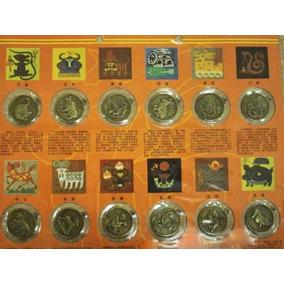 Monedas Chinas Del Año Nuevo Zodiaco Animal Y Gráfico