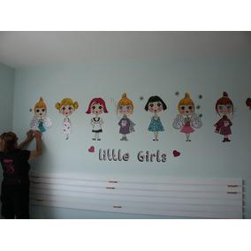 Princesas , Muñecas Barbies, Niñas, Recamara, Vinilos Decora